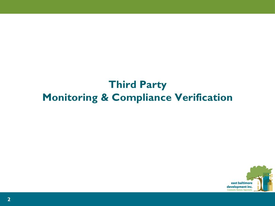 Third Party Monitoring & Compliance Verification 2