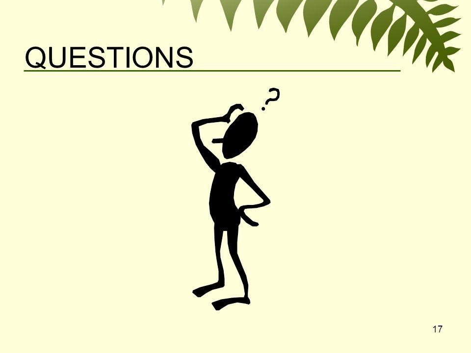 17 QUESTIONS