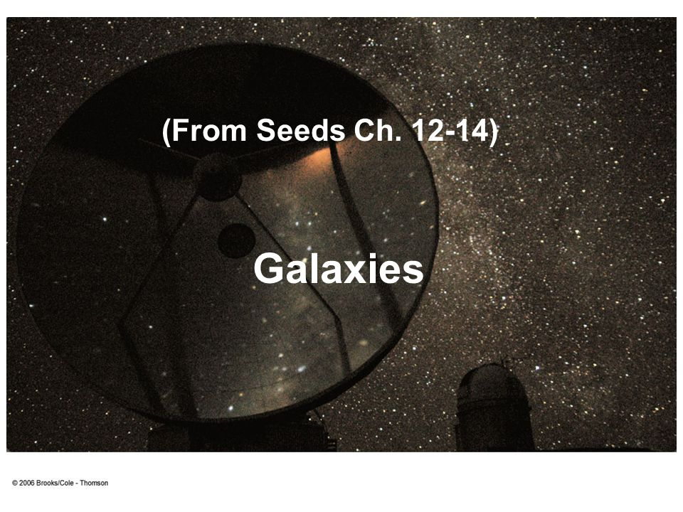 Galaxies (From Seeds Ch. 12-14)