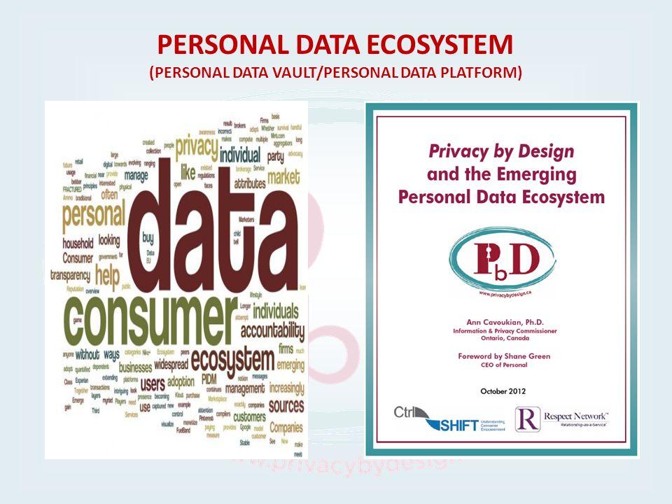 PERSONAL DATA ECOSYSTEM (PERSONAL DATA VAULT/PERSONAL DATA PLATFORM)
