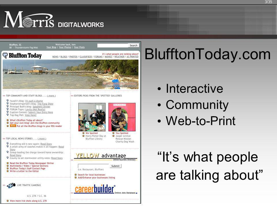 BlufftonToday.com Interactive Community Web-to-Print Its what people are talking about 3/35