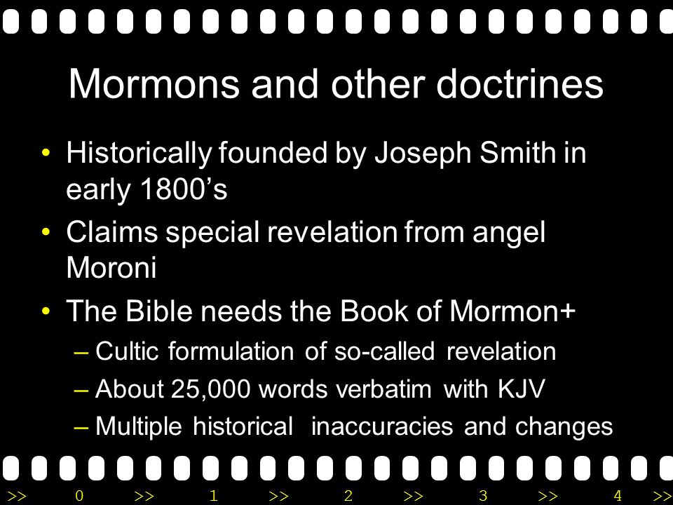 >>0 >>1 >> 2 >> 3 >> 4 >> Mormons and 11:4 Jesus is just a spirit child of the gods (Mary and Adam), whos brother is Lucifer and is our elder brother.