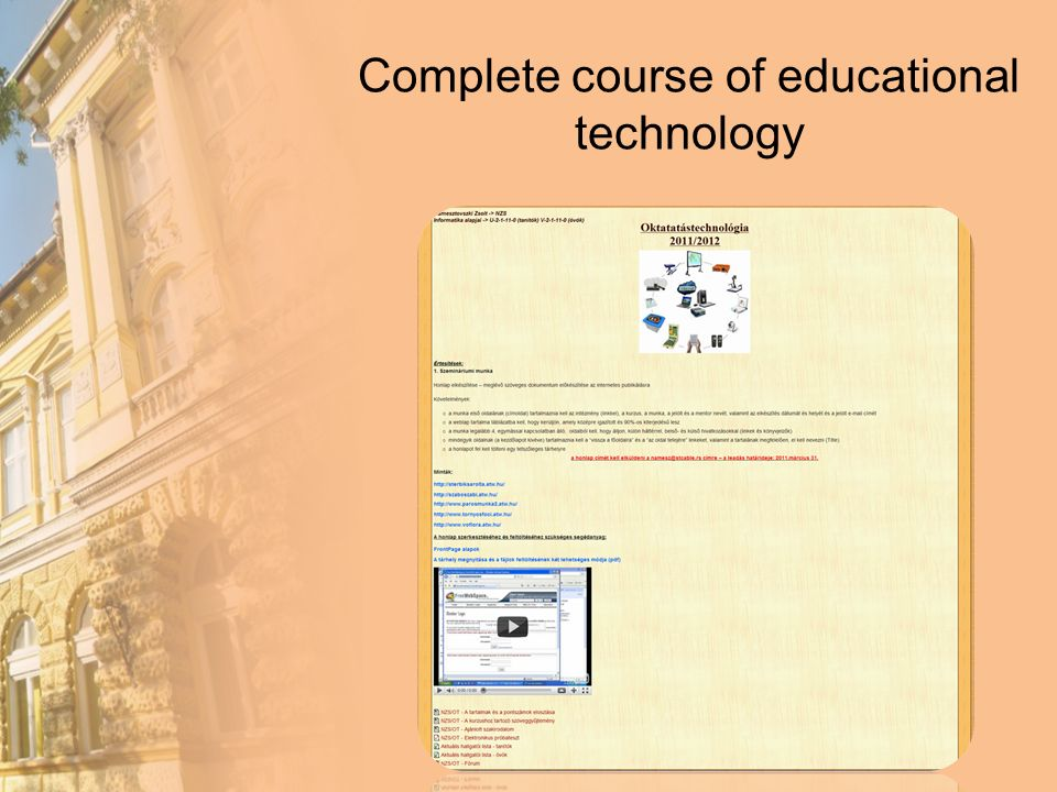 Complete course of educational technology