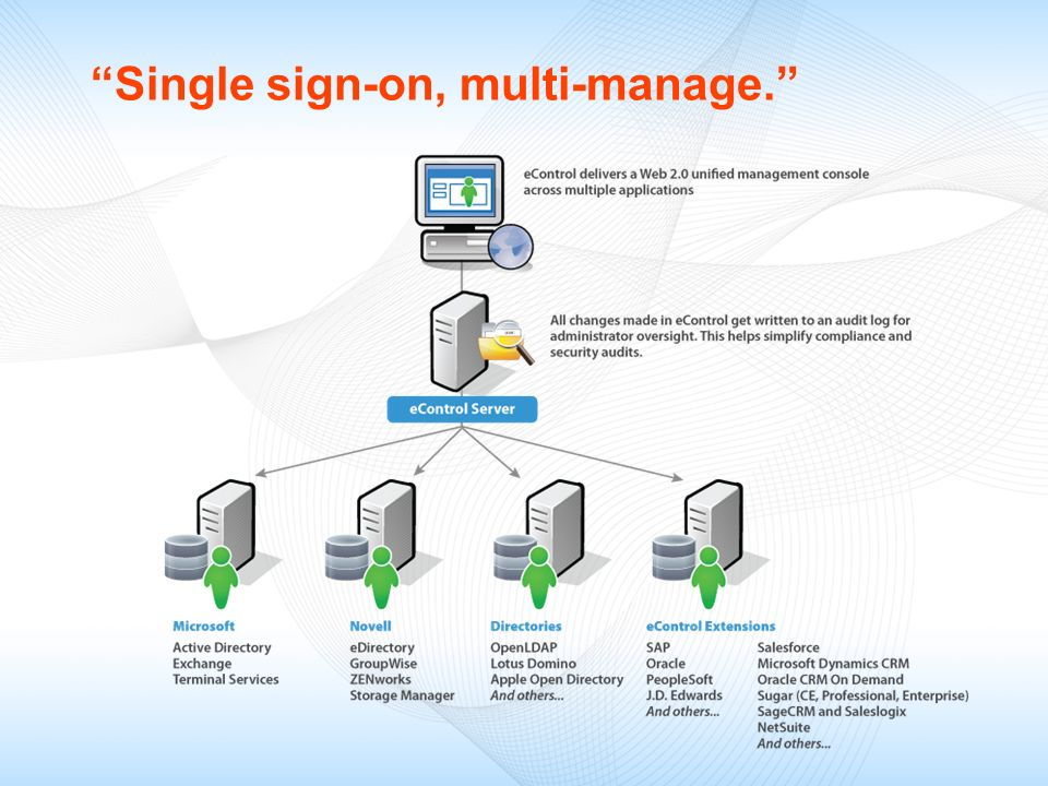 Single sign-on, multi-manage.