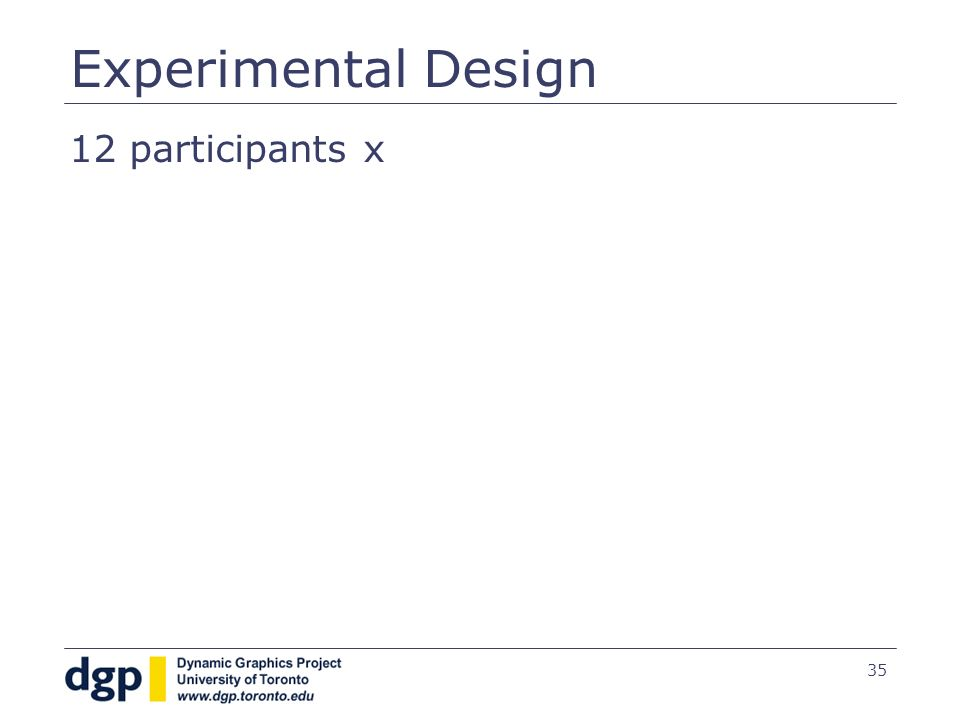 35 12 participants x Experimental Design
