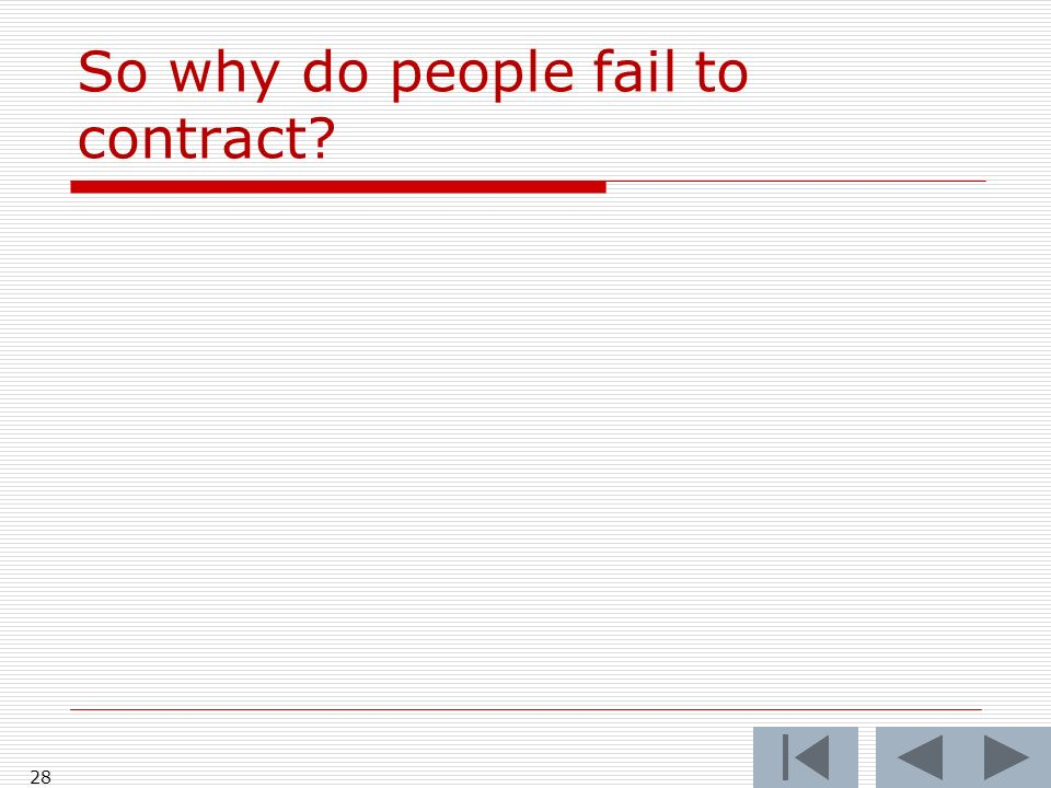 So why do people fail to contract 28