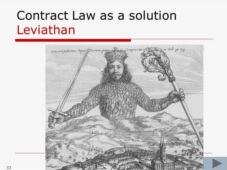 33 Contract Law as a solution Leviathan