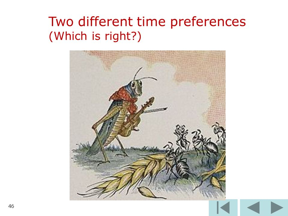 46 Two different time preferences (Which is right )