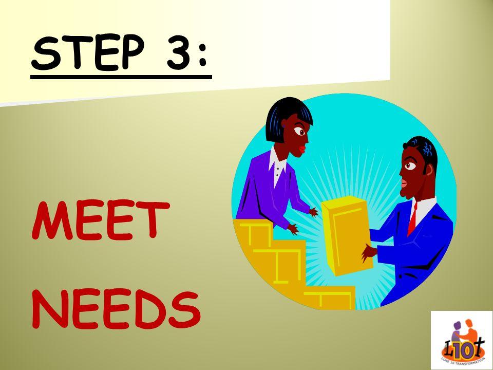 STEP 3: MEET NEEDS
