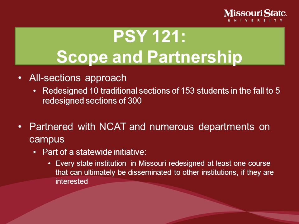 STEP 2: Determine the scope of the redesign One-section approach All-section approach Decide if you need to partner with any course redesign specialis