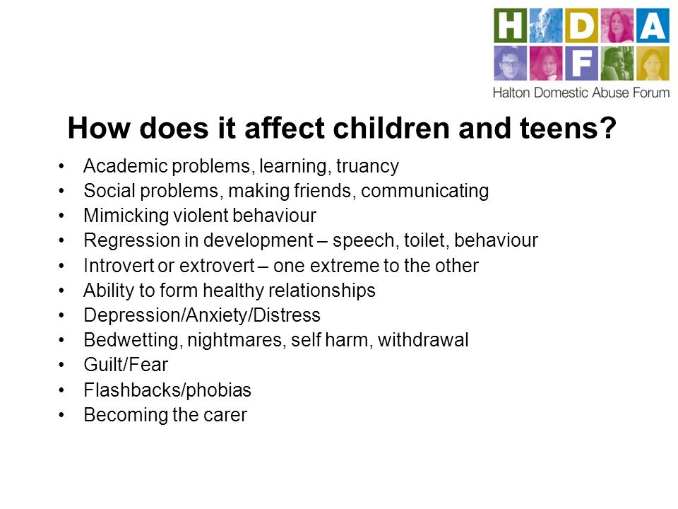 How does it affect children and teens.
