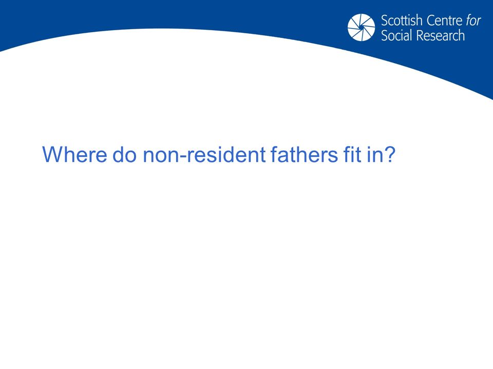 Where do non-resident fathers fit in