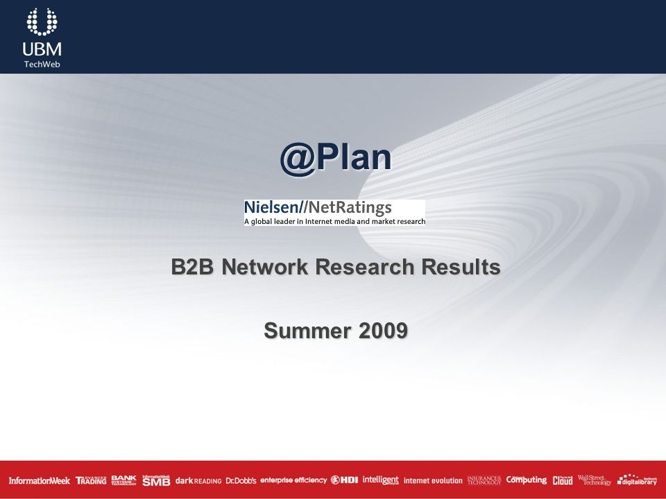 @Plan B2B Network Research Results Summer 2009