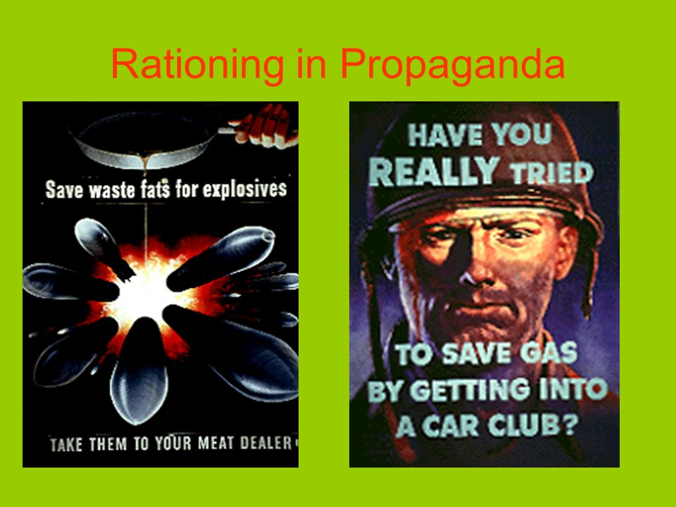 Rationing in Propaganda
