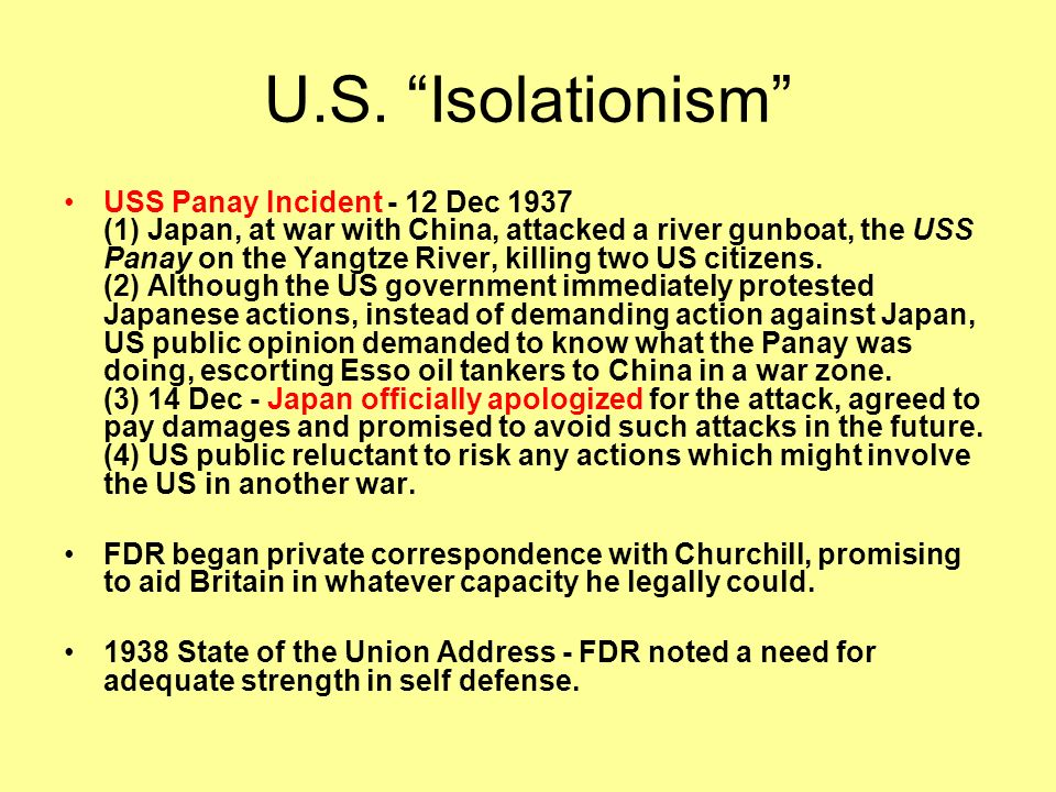 U.S. Isolationism FDRs Chicago Quarantine Speech - 5 Oct 1937 - FDR's trial of collective security (1)