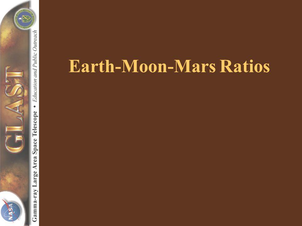 Earth-Moon-Mars Ratios