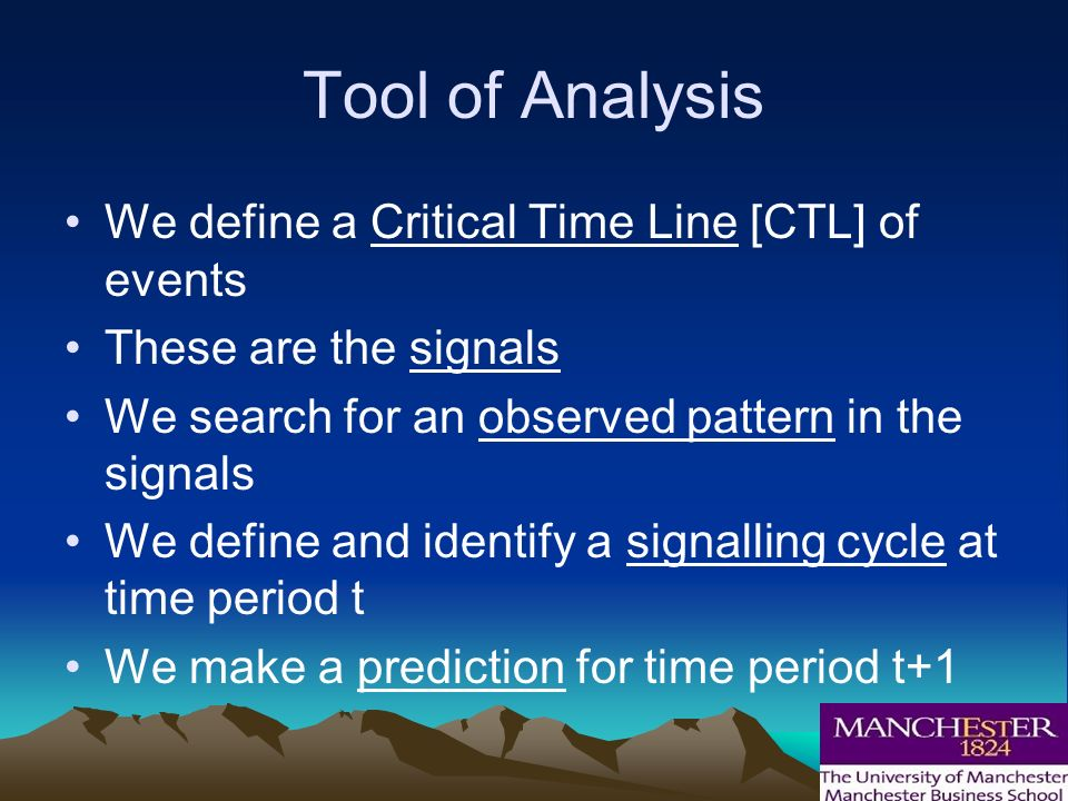 And in conclusion….. 2010 is time period t Our prognosis is for time period t+1