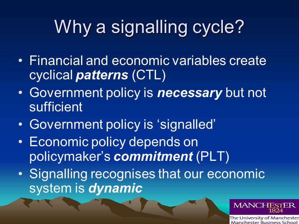 Why a signalling cycle.