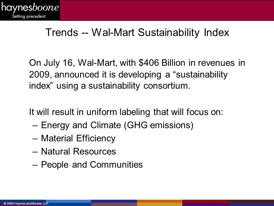 © 2004 Haynes and Boone, LLP Sustainability of Energy Sources Fossil fuel energy cannot be sustainable.