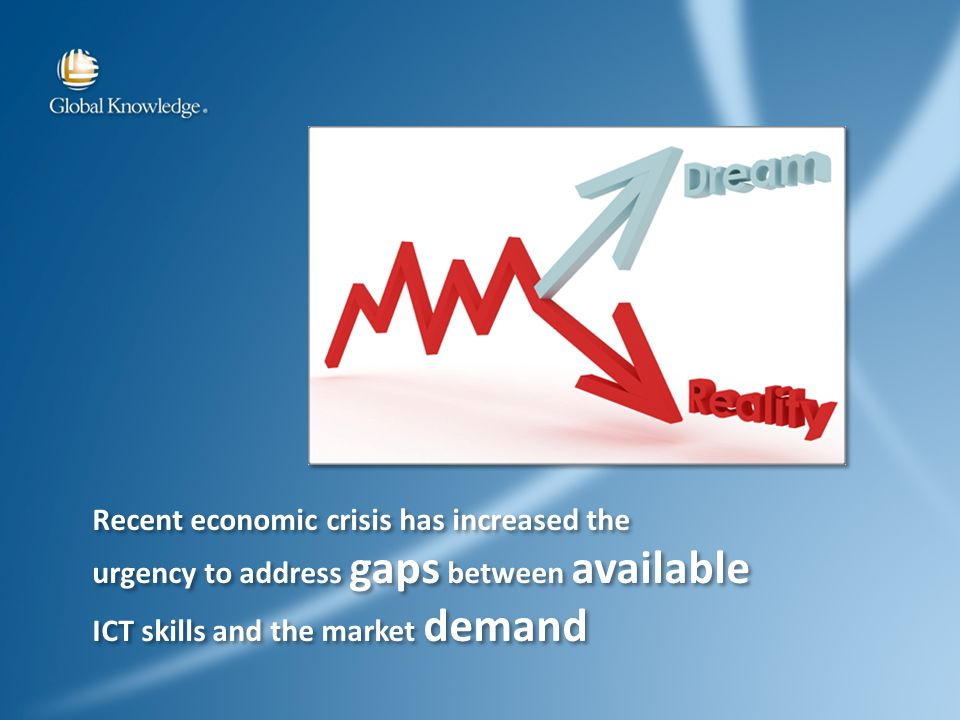 Recent economic crisis has increased the urgency to address gaps between available ICT skills and the market demand