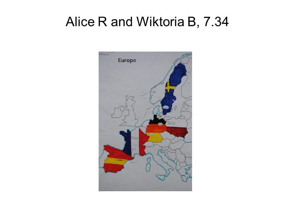 Alice R and Wiktoria B, 7.34