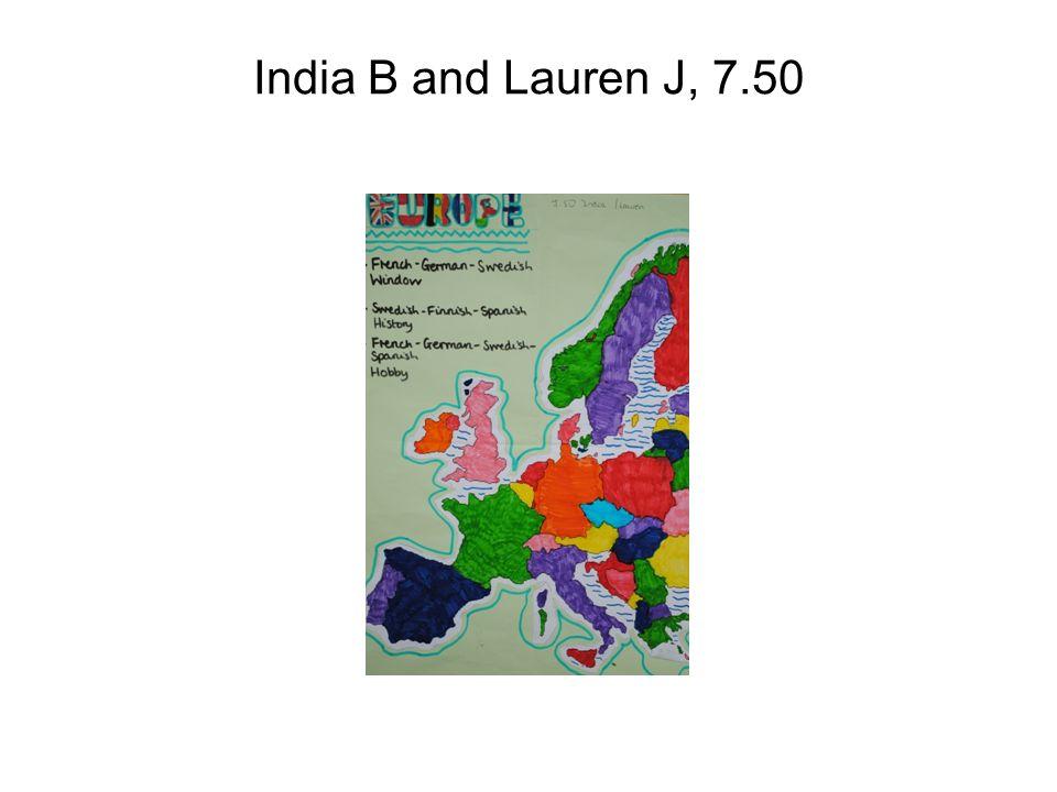 India B and Lauren J, 7.50