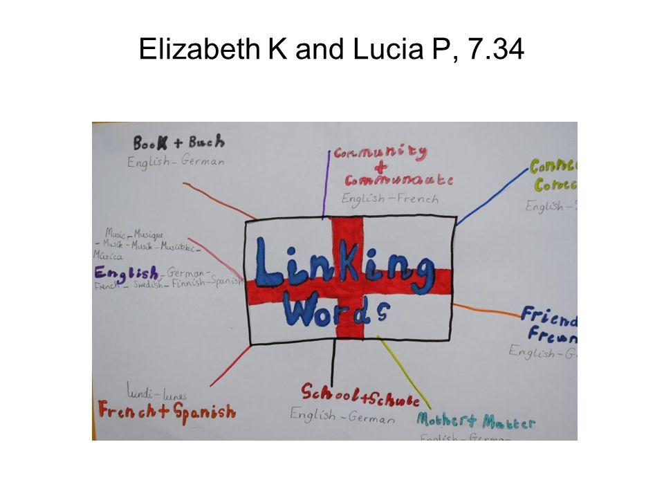 Elizabeth K and Lucia P, 7.34