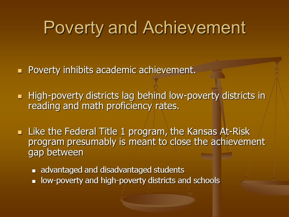 The Big Six - SES Low-poverty districts Low-poverty districts Blue Valley Blue Valley Olathe Olathe Shawnee Mission Shawnee Mission High-poverty districts High-poverty districts Topeka Topeka Wichita Wichita Kansas City Kansas City