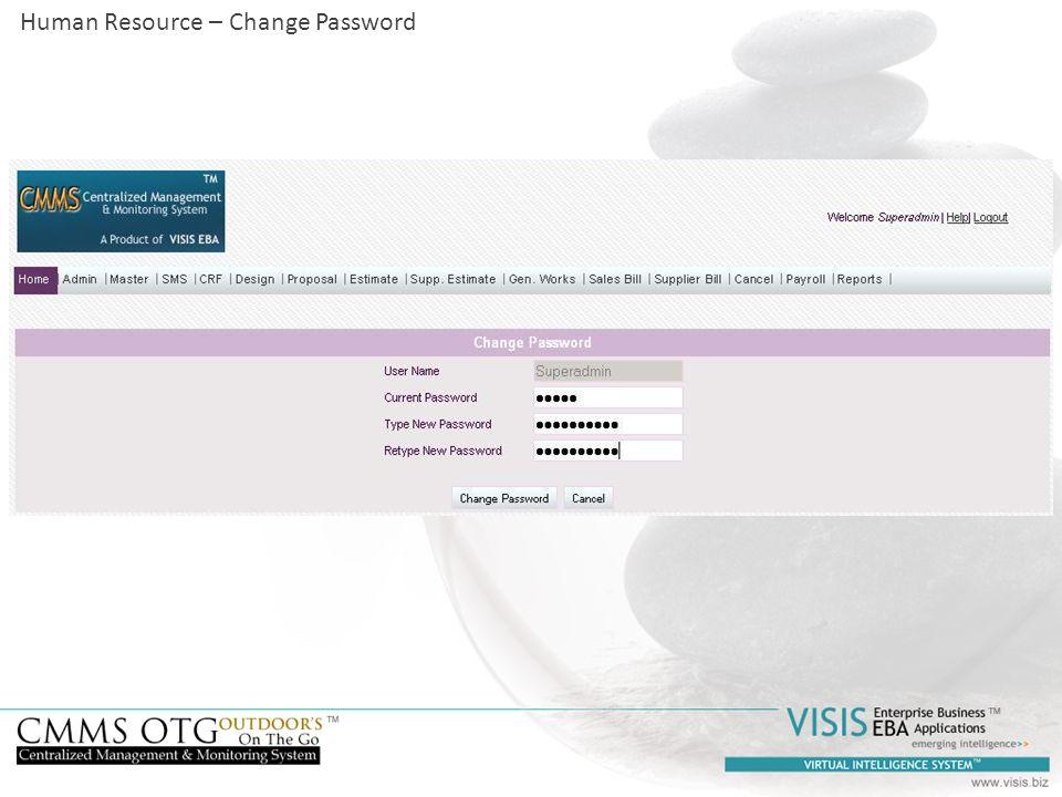 Human Resource – Change Password