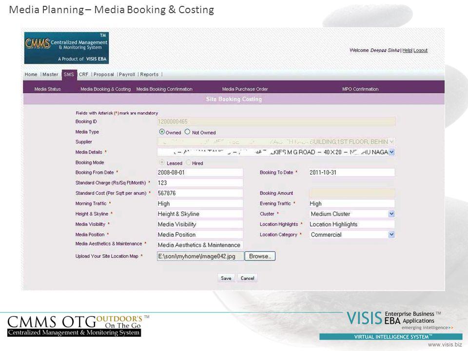 Media Planning – Media Booking & Costing