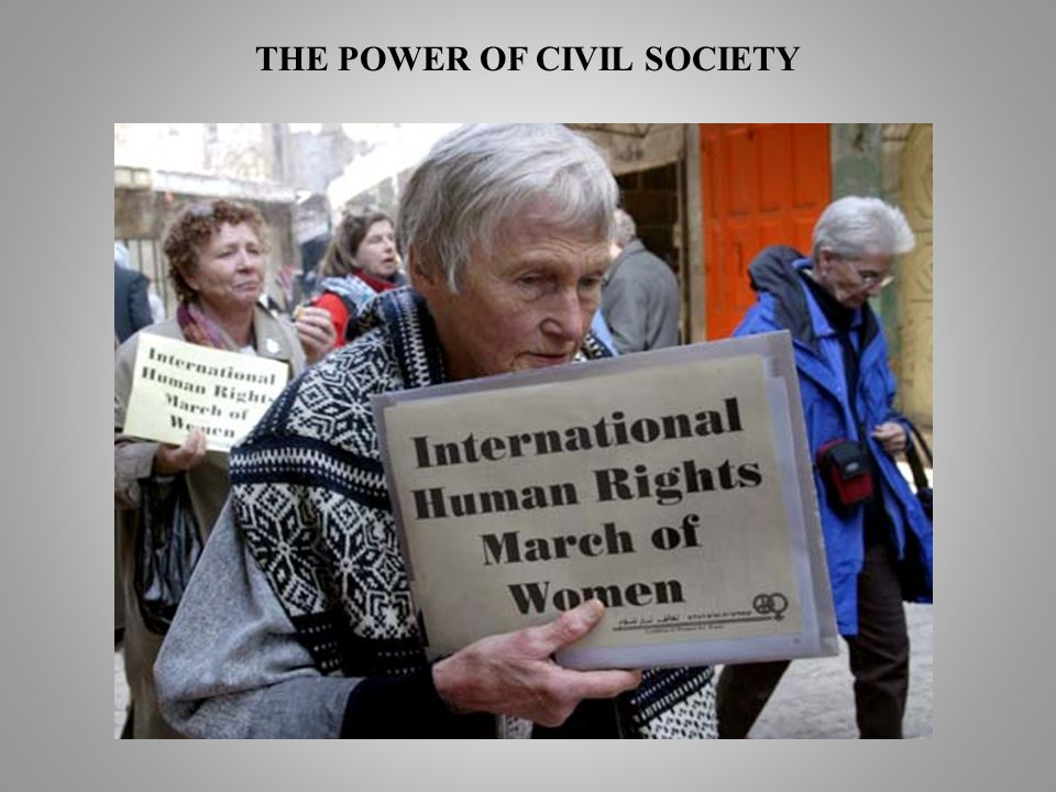 THE POWER OF CIVIL SOCIETY