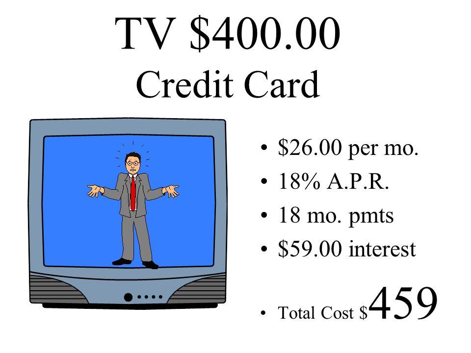 TV $400.00 cash