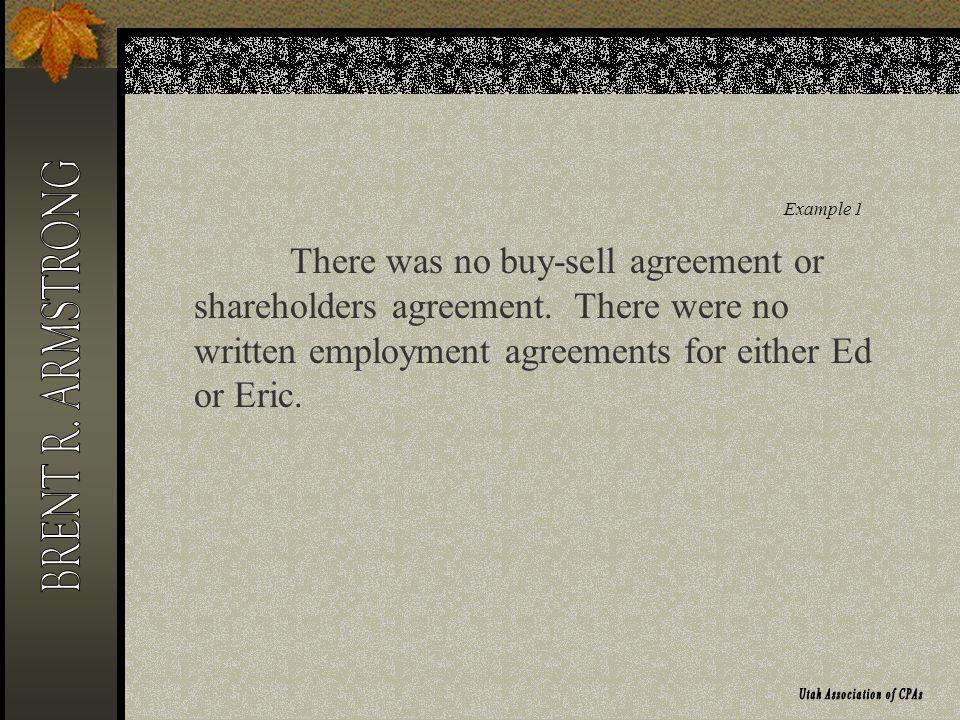 Example 2 HarryDavid LLC (member/managed) Land worth $1,000,000 50%