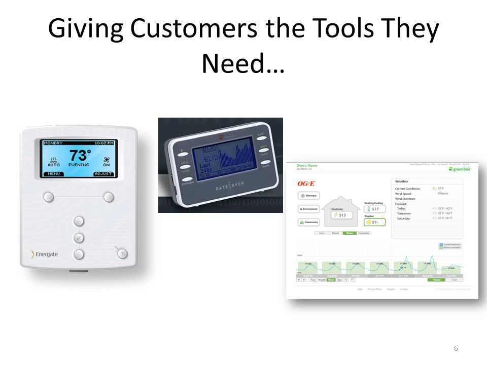 Giving Customers the Tools They Need… 6