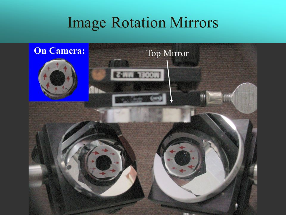 Image Rotation Mirrors Top Mirror On Camera:
