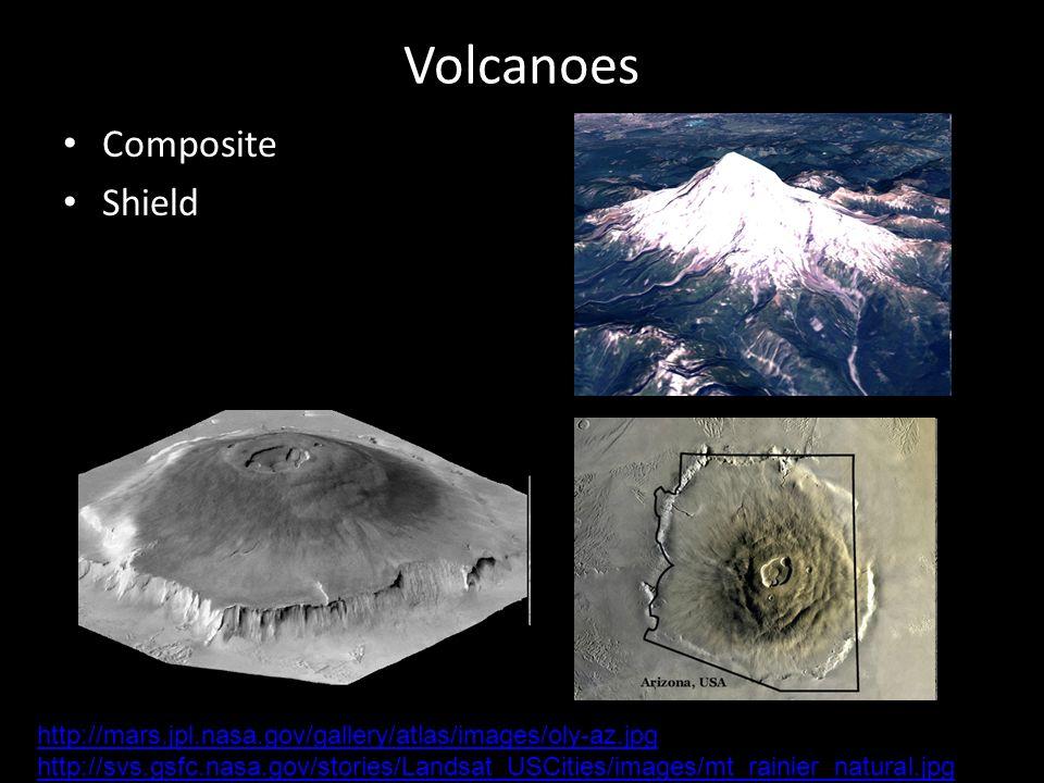 Volcanoes Composite Shield http://mars.jpl.nasa.gov/gallery/atlas/images/oly-az.jpg http://svs.gsfc.nasa.gov/stories/Landsat_USCities/images/mt_rainie
