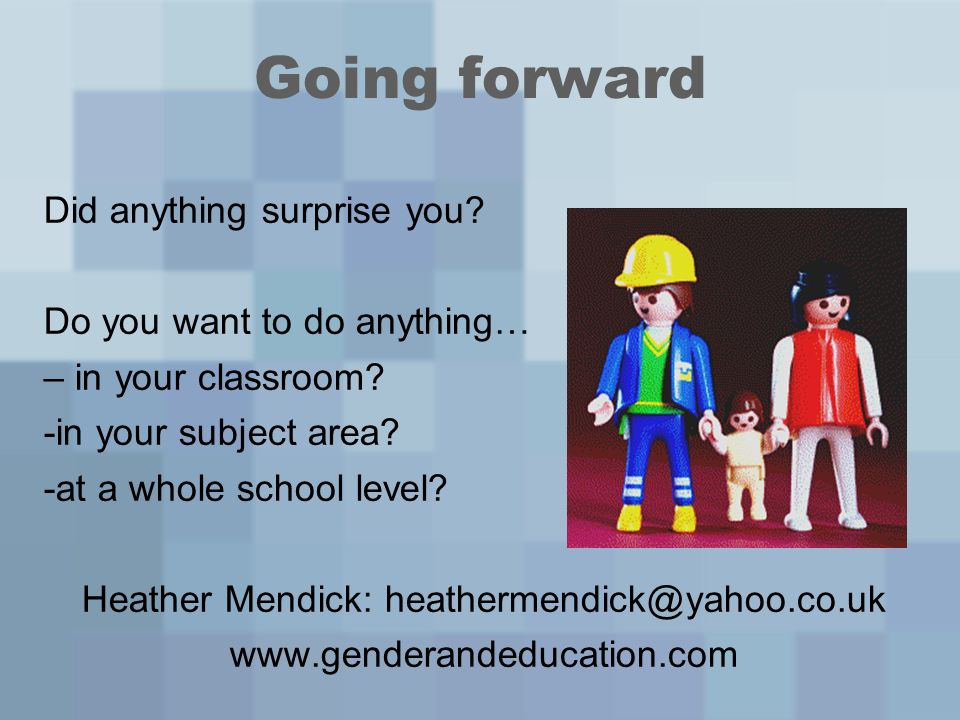 Going forward Did anything surprise you. Do you want to do anything… – in your classroom.