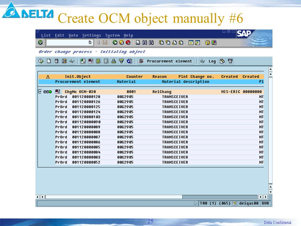 Delta Confidential 25 Create OCM object manually #6