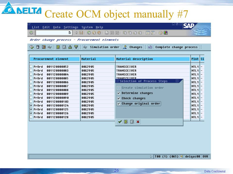 Delta Confidential 26 Create OCM object manually #7