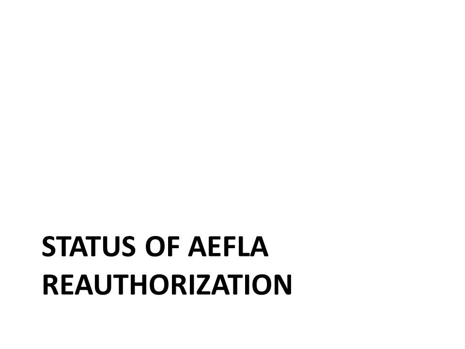 STATUS OF AEFLA REAUTHORIZATION 40