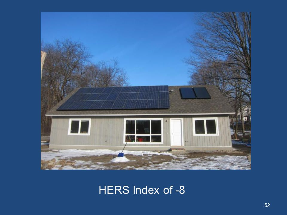 52 HERS Index of -8