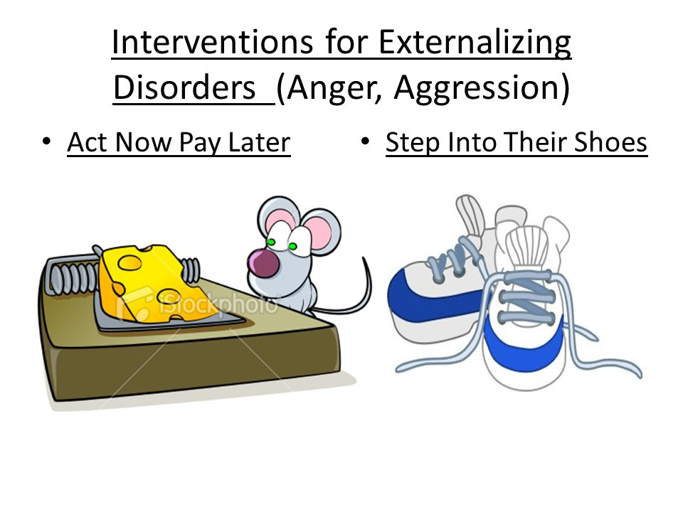 Interventions for Externalizing Disorders (Anger, Aggression) Act Now Pay Later Step Into Their Shoes
