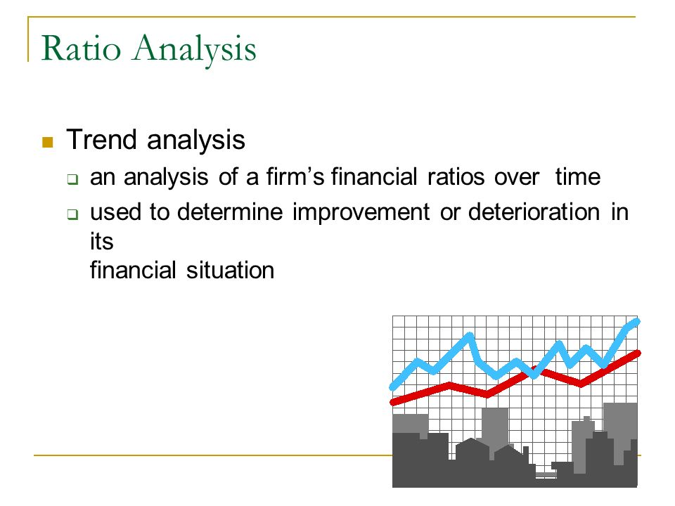 Ratio Analysis Trend analysis an analysis of a firms financial ratios over time used to determine improvement or deterioration in its financial situat