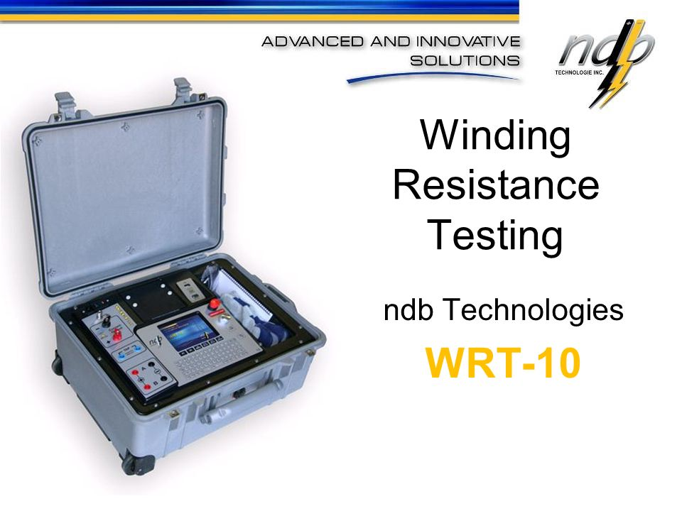 Winding resistance measurements in transformers / generators & large motors are of fundamental importance for the following purposes: Manufacturers will use the test to determine copper losses which are calculated using the formula I 2 *R At the time of commissioning, a winding resistance test can be used to detect loose connections, typically at the connections to bushings, and abnormalities with the tap-changer as a result of poor workmanship or shipping damage.