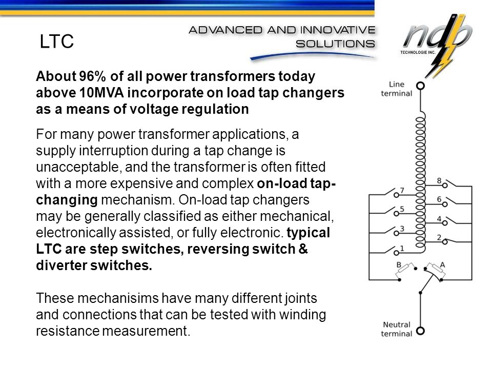 For many power transformer applications, a supply interruption during a tap change is unacceptable, and the transformer is often fitted with a more ex