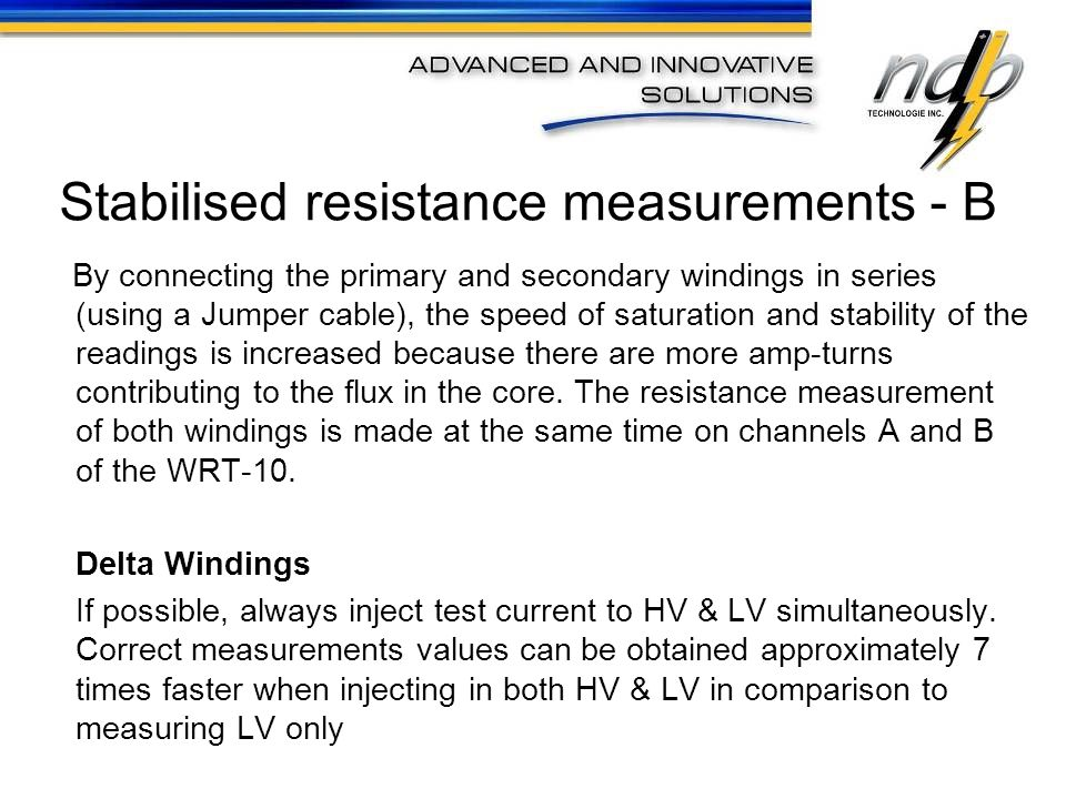 Indicates if the voltage reading (and displayed resistance reading) has stabilized.