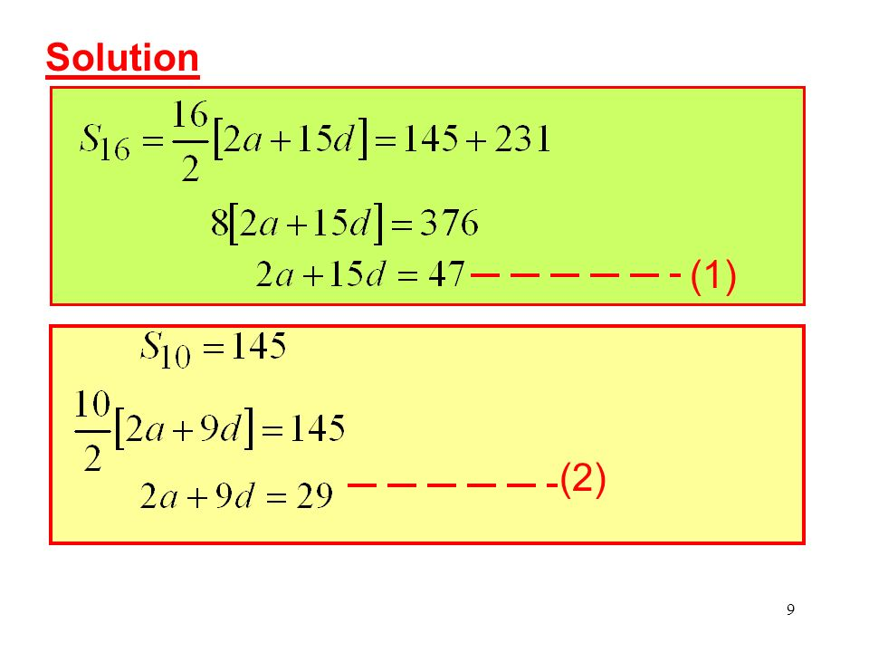 10 (1) (2): From (2): (ii)Find the least number of terms required for the sum to exceed 2000.