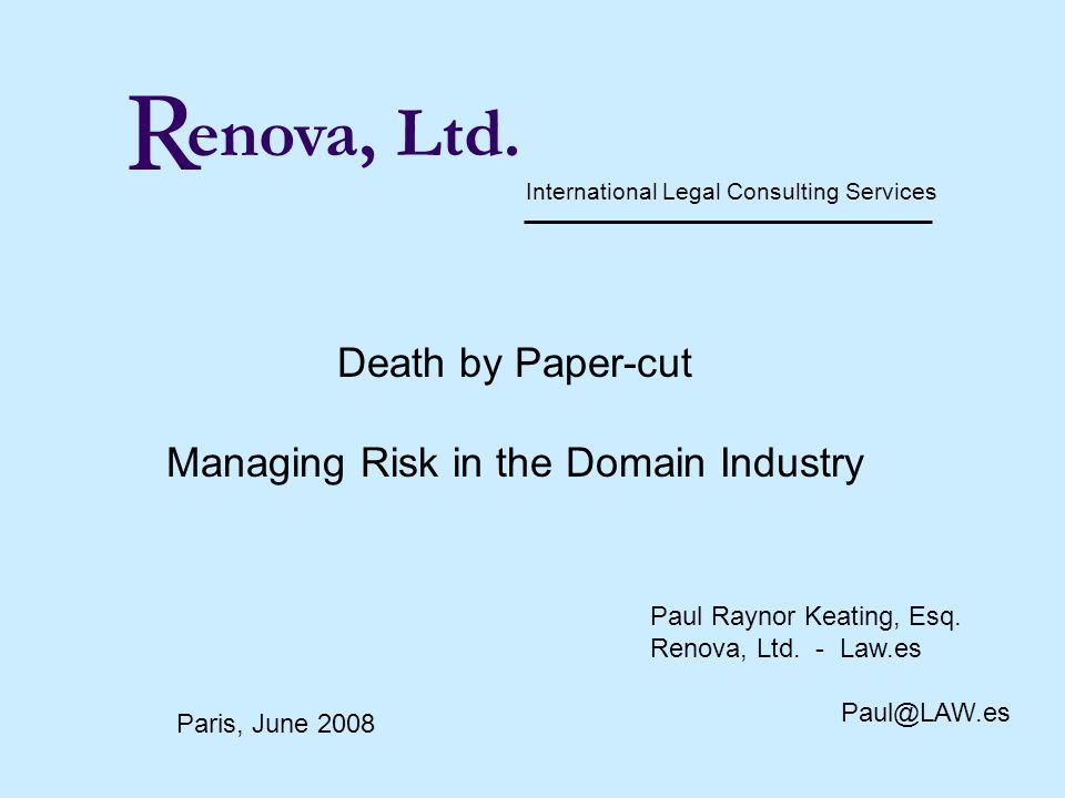 R PRKeating@Renovaltd.com enova, Ltd.