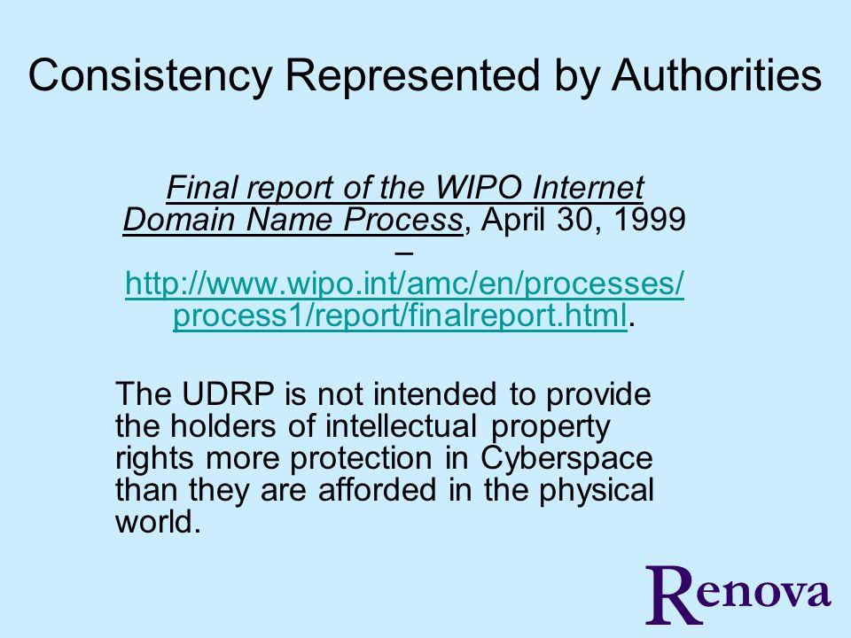 R PRKeating@Renovaltd.com enova, Ltd.UDRP Complainant must PROVE: 1.