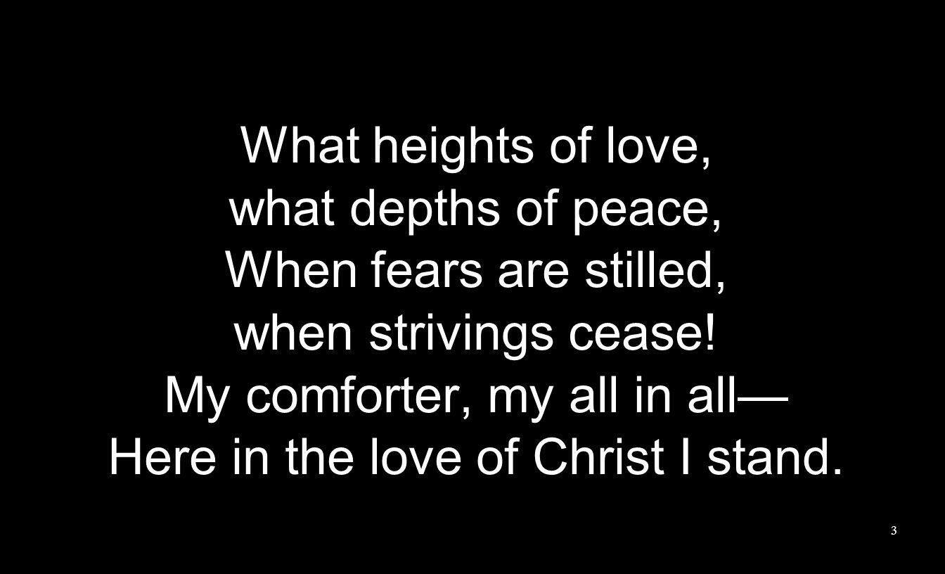 In Christ alone, Who took on flesh, Fullness of God in helpless babe.